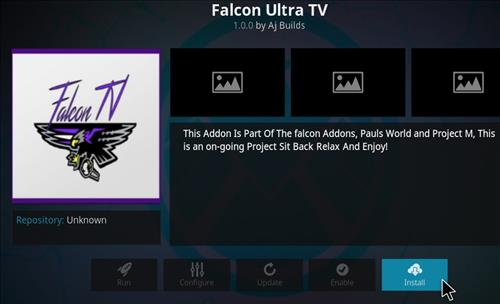 FalconUltra IPTV Add-on How to Install Guide step 18