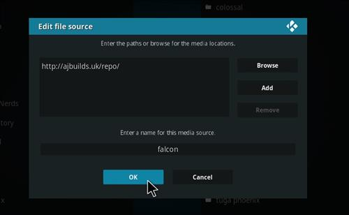 FalconUltra IPTV Add-on How to Install Guide step 7