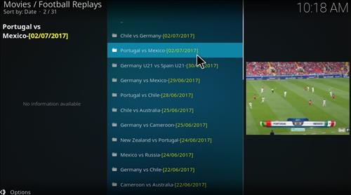 Football Replays Add-on Kodi 17 Krypton How to Install Guide pic 2