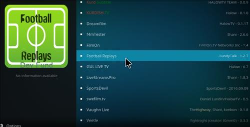 Football Replays Add-on Kodi 17 Krypton How to Install Guide step 17