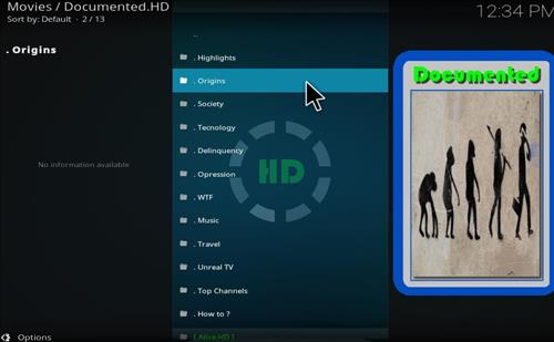 How to Install Documented.HD Kodi Add-on with Screenshots pic 2