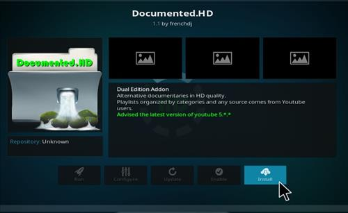 How to Install Documented.HD Kodi Add-on with Screenshots step 18