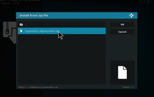 How to Install SecrettvVIP Kodi Add-on with Screenshots step 12