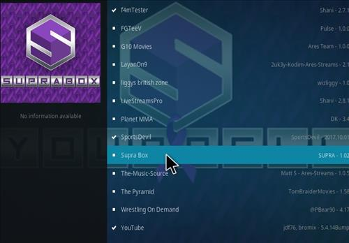 How to Install Supra Box Kodi Add-on using Ares Project Repo step 17
