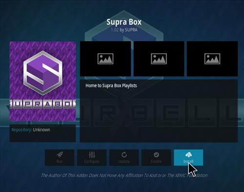 How to Install Supra Box Kodi Add-on using Ares Project Repo step 18