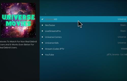 How to Install UniverseHD Kodi Add-on with Screenshots step 16