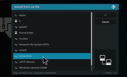 Live Hub Add-on Kodi 17 Krypton How To Install Guide step 11