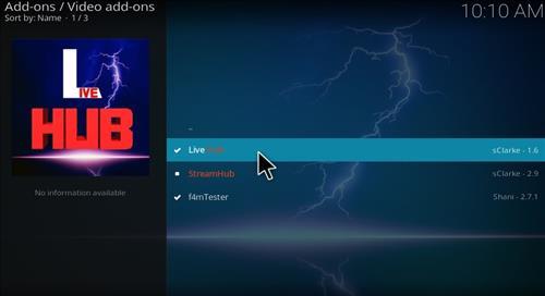 Live Hub Add-on Kodi 17 Krypton How To Install Guide step 17