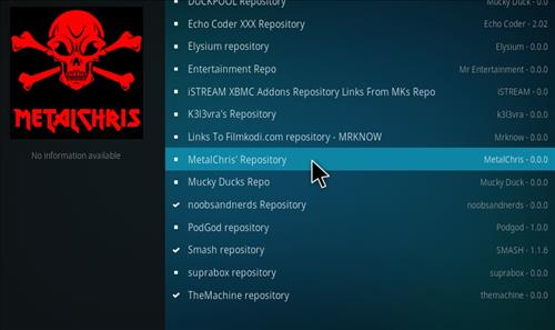 MetalChris' Repository Kodi 17 Krypton How to Install Guide step 17