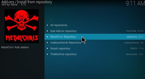 MetalChris' Repository Kodi 17 Krypton How to Install Guide step 20