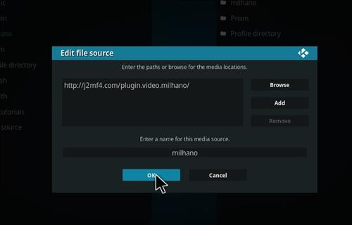 Milhano IPTV Add-on Kodi 17 Krypton How to Install Guide step 7