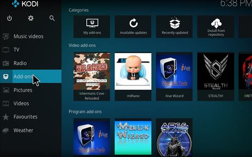 Milhano IPTV Add-on Kodi 17 Krypton How to Install Guide step 8