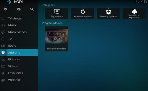 Misfit Mods Builds Kodi 17 Krypton How to Install Guide step 8