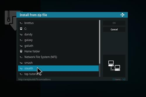 Stealth Add-on Kodi 17 Krypton How to Install Guide step 11