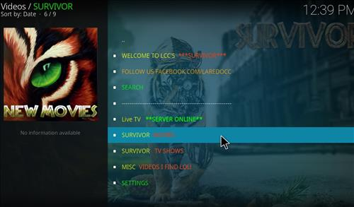 Survivor Add-on Kodi 17.3 Krypton How to Install Guide pic 2