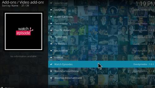 Watch Episodes Add-on Kodi 17 Krypton How to Install Guide step 17