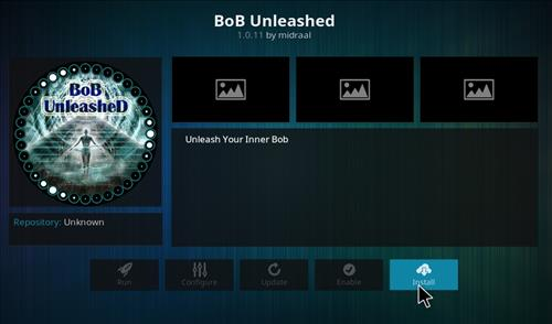 how to Install Bob Unleashed Kodi addon with screenshots step 18