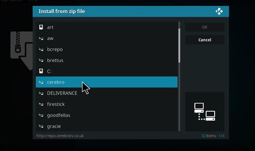 How to Install Cerebro Phoenix Kodi Add-on with Screenshots step 11