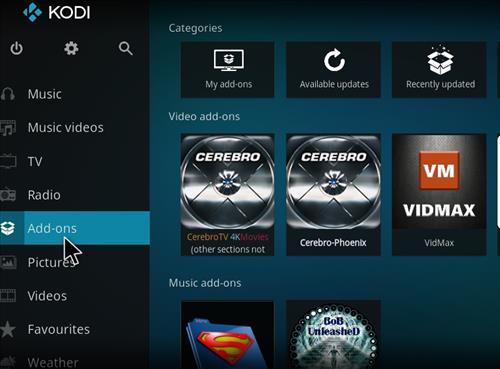 How to Install Cerebro Phoenix Kodi Add-on with Screenshots step 8