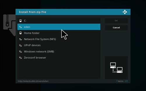 How to Install Eden Red kodi Build step 11
