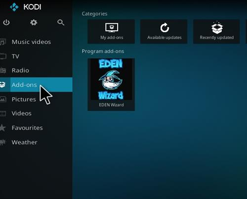 How to Install Eden Red kodi Build step 14