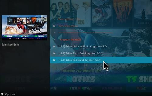 How to Install Eden Red kodi Build step 18