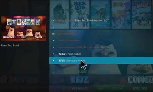 How to Install Eden Red kodi Build step 19