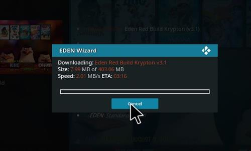 How to Install Eden Red kodi Build step 21