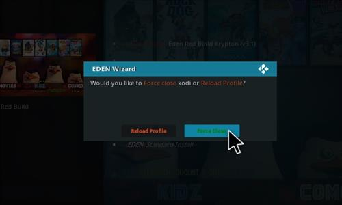 How to Install Eden Red kodi Build step 22