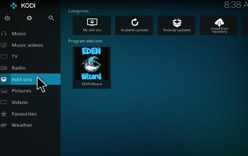 How to Install Eden Red kodi Build step 8