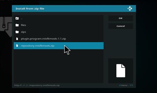 How to Install Misfit Mod Lite Kodi Build with Screenshots step 12
