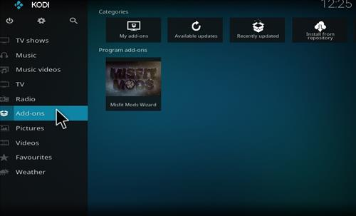 How to Install Misfit Mod Lite Kodi Build with Screenshots step 8
