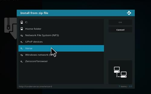 How to Install Underverse Kodi Build with Screenshots step 11