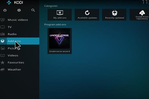 How to Install Underverse Kodi Build with Screenshots step 14
