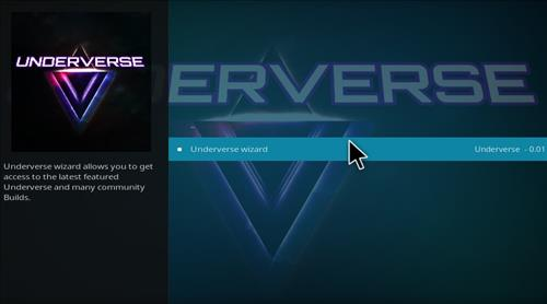 How to Install Underverse Kodi Build with Screenshots step 16