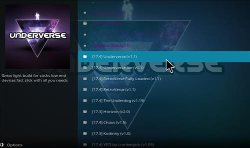 How to Install Underverse Kodi Build with Screenshots step 18