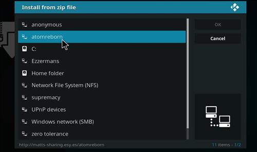 how to install Atom reborn kodi add-on with screenshots step 11