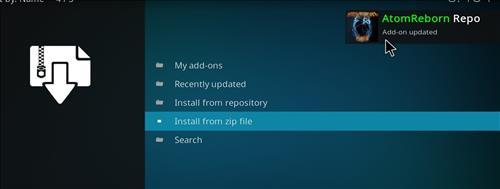 how to install Atom reborn kodi add-on with screenshots step 13