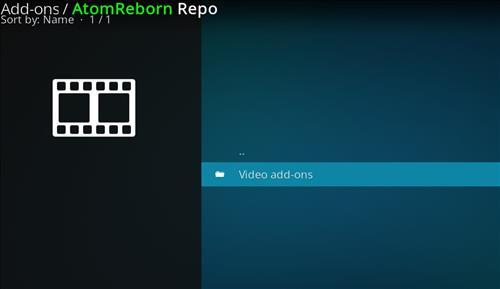 how to install Atom reborn kodi add-on with screenshots step 16