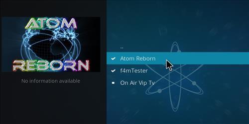 how to install Atom reborn kodi add-on with screenshots step 17
