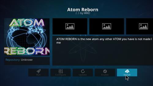 how to install Atom reborn kodi add-on with screenshots step 18