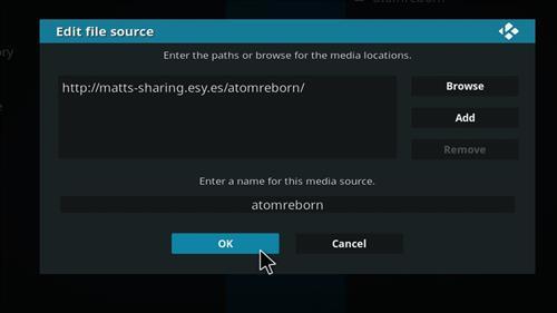 how to install Atom reborn kodi add-on with screenshots step 7