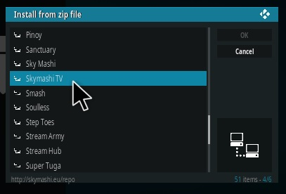How To Install SkymashiTV Kodi Repository Step 11