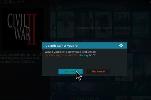 How to Install Civil War Kodi Build with Screenshots step 20