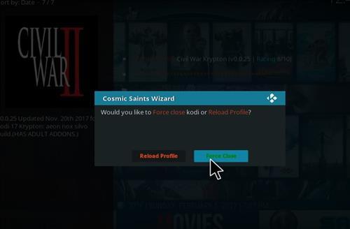 How to Install Civil War Kodi Build with Screenshots step 22