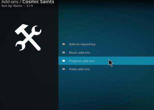 How to Install Cosmic Saints 4K Kodi Build with Screenshots step 16