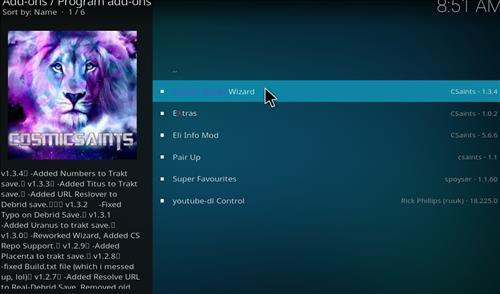 How to Install Cosmic Saints 4K Kodi Build with Screenshots step 17