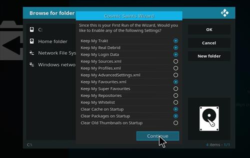 How to Install Cosmic Saints 4K Kodi Build with Screenshots step 20