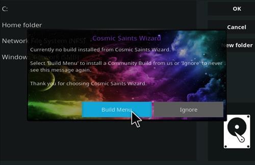 How to Install Cosmic Saints 4K Kodi Build with Screenshots step 21