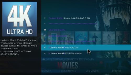 How to Install Cosmic Saints 4K Kodi Build with Screenshots step 23